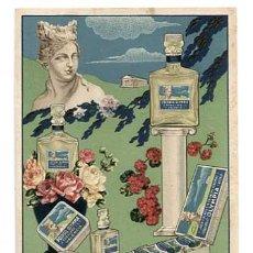 Postales: VALENCIA POSTAL PUBLICITARIA ILUSTRADA PERFUMES OLYMPIA J ROBILLARD Y CIA. LIT S. DURÁ. SIN CIRCULAR. Lote 147067446