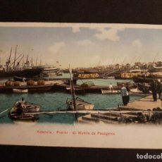 Postales: VALENCIA PUERTO EL MUELLE DE PASAGERO. Lote 147521602
