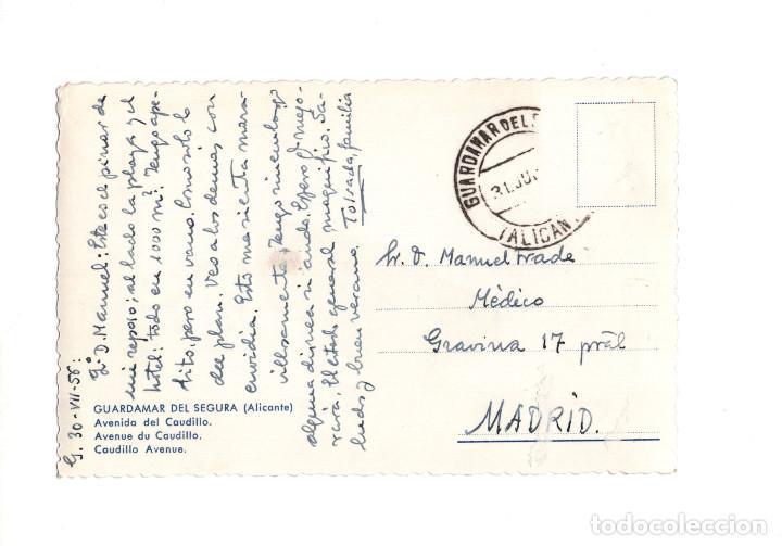 Postales: GUARDAMAR DE SEGURA.(ALICANTE).- AVENIDA CAUDILLO - Foto 2 - 147573650