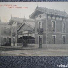 Postales: VALENCIA GRAO VARADERO OBRAS DEL PUERTO POSTAL ANTIGUA. Lote 148396018