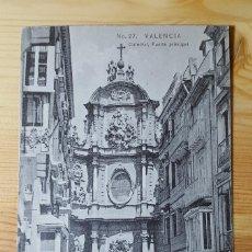 Postales: VALENCIA Nº 27 CATEDRAL PUERTA PRINCIPAL 1911 ED. E.B.P. VALENCIA. Lote 150884182