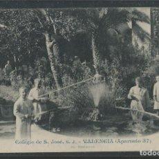 Postales: VALENCIA-COLEGIO DE SAN JOSE-PESCANDO-ANDRES FABERT-POSTAL ANTIGUA-(56.897). Lote 151021774