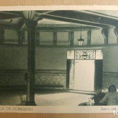 Postales: HERVIDEROS DE COFRENTES, VALENCIA. SALON DEL MANANTIAL. Lote 151374314