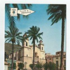 Postales: POSTAL DE ORIHUELA-EDICIONES PERGAMINO-PLAZA E IGLESIA DE MONSERRATE-Nº 4008-RECUERDO DE ORIHUELA. Lote 152037714