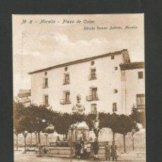 Postales: MORELLA-PLAZA DE COLON-8-ED·ROMAN BELTRAN-POSTAL ANTIGUA-(57.334). Lote 153233858