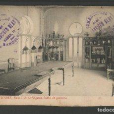 Postales: ALICANTE-REAL CLUB DE REGATAS-SALON DE PREMIOS-59-THOMAS-POSTAL ANTIGUA-(57.335). Lote 153234094