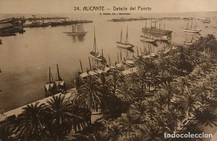 ALICANTE. DETALLE DEL PUERTO (Postales - España - Comunidad Valenciana Antigua (hasta 1939))
