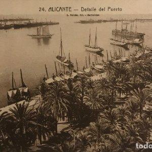 Alicante. Detalle del puerto