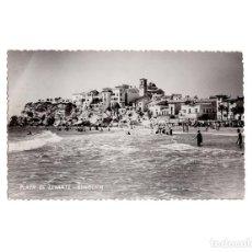 Postales: BENIDORM.(ALICANTE).- PLAYA DE LEVANTE. FOTO SIMEÓN. POSTAL FOTOGRÁFICA.. Lote 153812554