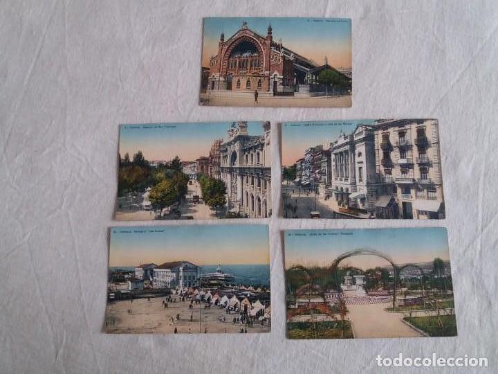 5 POSTALES ANTIGUAS DE VALENCIA (Postales - España - Comunidad Valenciana Antigua (hasta 1939))