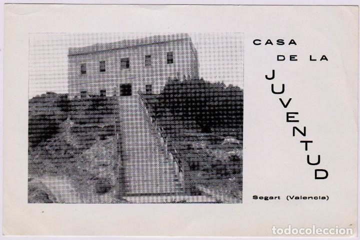 SEGART VALENCIA CASA DE LA JUVENTUD. ED. SEGART Y EL GARBI PANORAMAS. (Postales - España - Comunidad Valenciana Moderna (desde 1940))