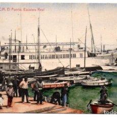 Postales: PS8132 VALENCIA 'PUERTO. ESCALERA REAL'. THOMAS. SIN CIRCULAR. PRINC. S. XX. Lote 155761938