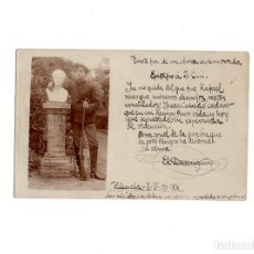 Postales: VALENCIA.- POSTAL FOTOGRÁFICA . SERENO. GUARDA DE PARQUE. CURIOSIDAD DETRAS (DARWIN).. Lote 155811030
