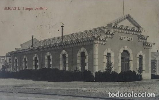 ALICANTE. PARQUE SANITARIO. POSTAL ANTIGUA CIRCULADA (Postales - España - Comunidad Valenciana Antigua (hasta 1939))