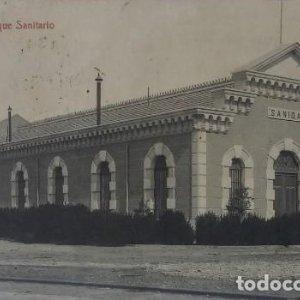 Alicante. Parque sanitario. Postal antigua circulada