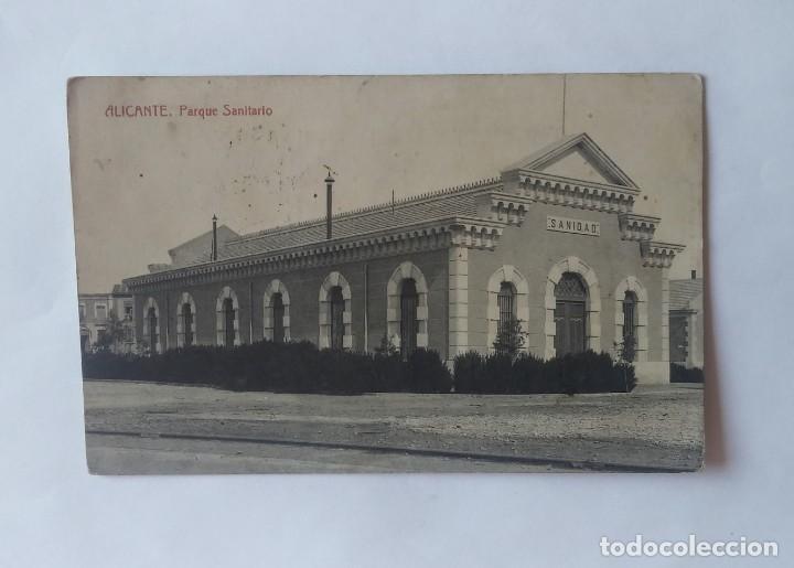 Postales: Alicante. Parque sanitario. Postal antigua circulada - Foto 2 - 135237526