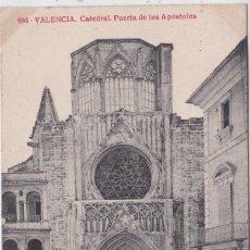 Postales: VALENCIA - CATEDRAL PUERTA DE LOS APOSTOLES. Lote 156447950