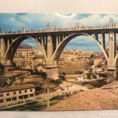 Postales: ALCOY (ALICANTE) POSTAL NO.2008, PUENTE DE SAN JORGE. EDITA: EDICIONES ARRIBAS (A.1964). Lote 157121178