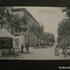 Postales: DENIA-CALLE DEL MARQUES DE CAMPO-KIOSCO-ED·J.LLORENS-POSTAL ANTIGUA-VER FOTOS-(58.283). Lote 158568422