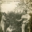 Postales: VALENCIA-EN LA HUERTA-MUJERES Y FLORES- 1910-FOTOGRÁFICA. Lote 159186874