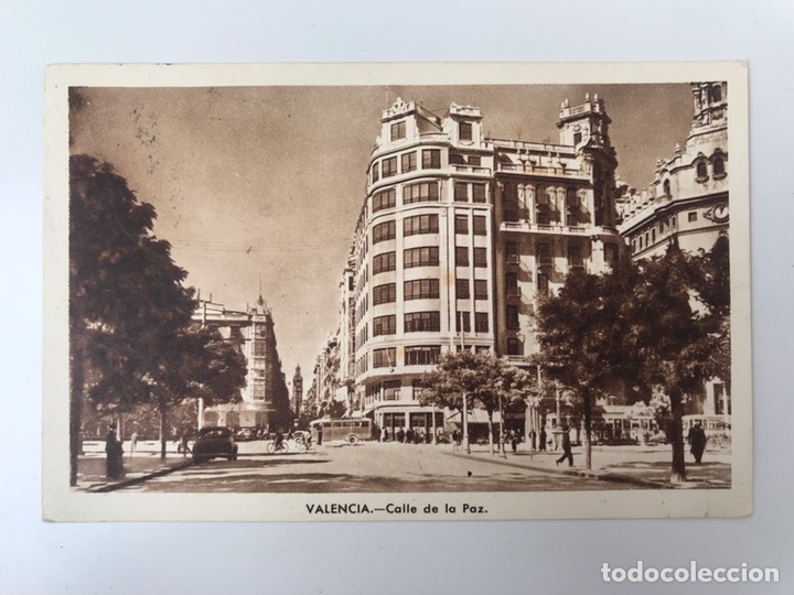 VALENCIA. POSTAL ANIMADA. CALLE DE LA PAZ, EDITA: JDP (A.1948) (Postales - España - Comunidad Valenciana Moderna (desde 1940))