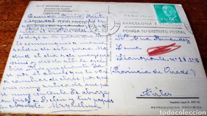 Postales: Benidorm. Plazoleta del castillo. Hnos Gallana. Nº 17.circulo - Foto 2 - 160622442