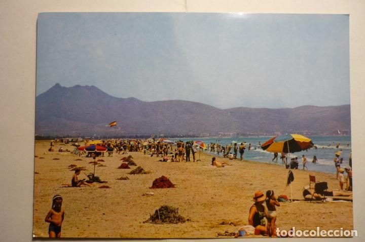 POSTAL CASTELLON DE LA PLANA - PLAYA AL FONDO LAS VILLAS (Postales - España - Comunidad Valenciana Moderna (desde 1940))