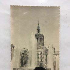 Postales: FOTO-POSTAL. VALENCIA. PLAZA DE LA REINA. MIGUELETE. H. 1960?.. Lote 161123308