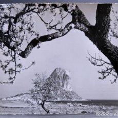 Postales: POSTAL CALPE ALMENDROS EN FLOR Y PEÑÓN IFACH FOTO HUESCA CIRCULADA CON SELLO. Lote 161246014