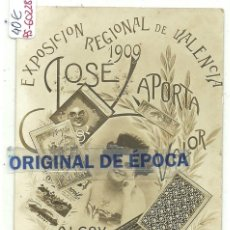 Postales: (PS-60228)POSTAL FOTOGRAFICA PAPEL DE FURMAR JOSE LAPORTA(ALCOY)-EXPOSICION REGIONAL VALENCIANA 1909. Lote 162178874