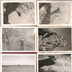 Postales: 8 FOTOGRAFÍA ORIGINAL BARRANCO DE LA HORTETA, CANTERA DE MARMOL TORRENT, ,DESCRIPCIÓN DEL LUGAR. Lote 163083754