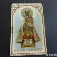 Postales: VALENCIA NUESTRA SEÑORA DE LOS DESAMPARADOS POSTAL CROMOLITOGRAFICA RELIEVES DORADOS. Lote 165735042