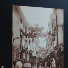 Postales: CASTELLON CORONACION DE LA VIRGEN DE LIDON ADORNO DE LA CALLE DE COLON. Lote 165760334