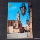 Postales: VALENCIA-V47-CIRCULADA-GANDIA-PLAZA CAUDILLO-IGLESIA Y COLEGIATA. Lote 165798694