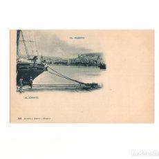 Postales: ALICANTE.- EL PUERTO. HAUSER Y MENET.. Lote 165835118