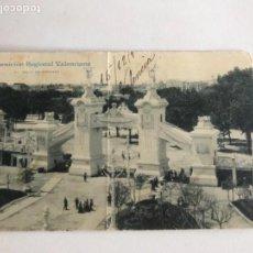 Postales: POSTAL DE VALENCIA- EXPOSICIÓN REGIONAL VALENCIANA, ARCO DE ENTRADA. 1909. . Lote 166290070