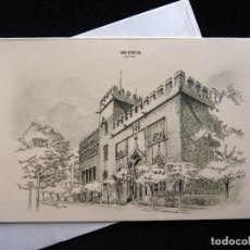 Postales: TARJETAS DE LA LONJA DE VALENCIA, ILUSTRADAS POR D. BLADÉ. SUBI, AÑOS 60. NUEVA. Lote 166348302