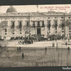 Postales: VALENCIA-GOBIERNO MILITAR-TRANVIA. COCHE-42-ROISIN-POSTAL ANTIGUA-(59.767). Lote 166546246