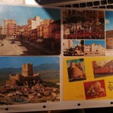 Postales: VILLENA POSTALES 4 VISTAS LOTE. Lote 168031896