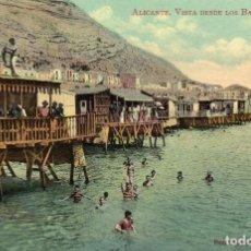 Postales: POSTAL COLOREADA BAÑOS DE DIANA, ALICANTE. Lote 169121248