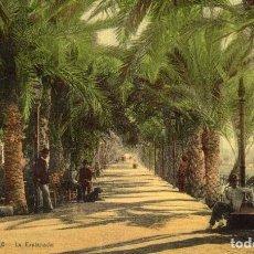 Postales: POSTAL COLOREADA DE LA EXPLANADA, ALICANTE. Lote 169121956