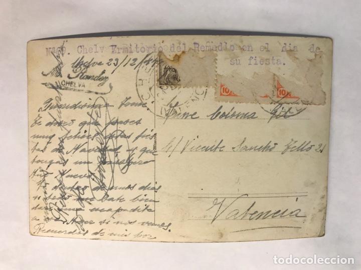 Postales: CHELVA (Valencia) Postal Fotografíca No.69, Ermitorio del Remedio en el día de su fiesta (a.1944) - Foto 2 - 169176066