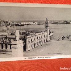 Postales: VALENCIA ESTACION MARITIMA. Lote 169356416