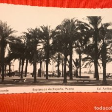 Postales: ALICANTE EXPLANADA DE ESPAÑA PUERTO. Lote 169452780