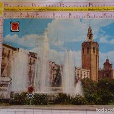 Postales: POSTAL DE VALENCIA. AÑO 1959. FUENTE PLAZA DE LA REINA Y MIGUELETE. 2172. Lote 169466588
