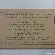 Postales: ELCHE-BLOCK DE 10 POSTALES HUERTO DEL CURA-ED·ARRIBAS-VER FOTOS-(60.976). Lote 169597112