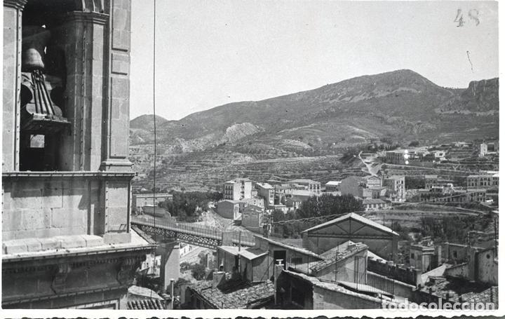 ALCOY DESTRUCCION DEL CAMPANAR Y SANTA MARIA 7 FOTOGRAFIAS (Postales - España - Comunidad Valenciana Antigua (hasta 1939))