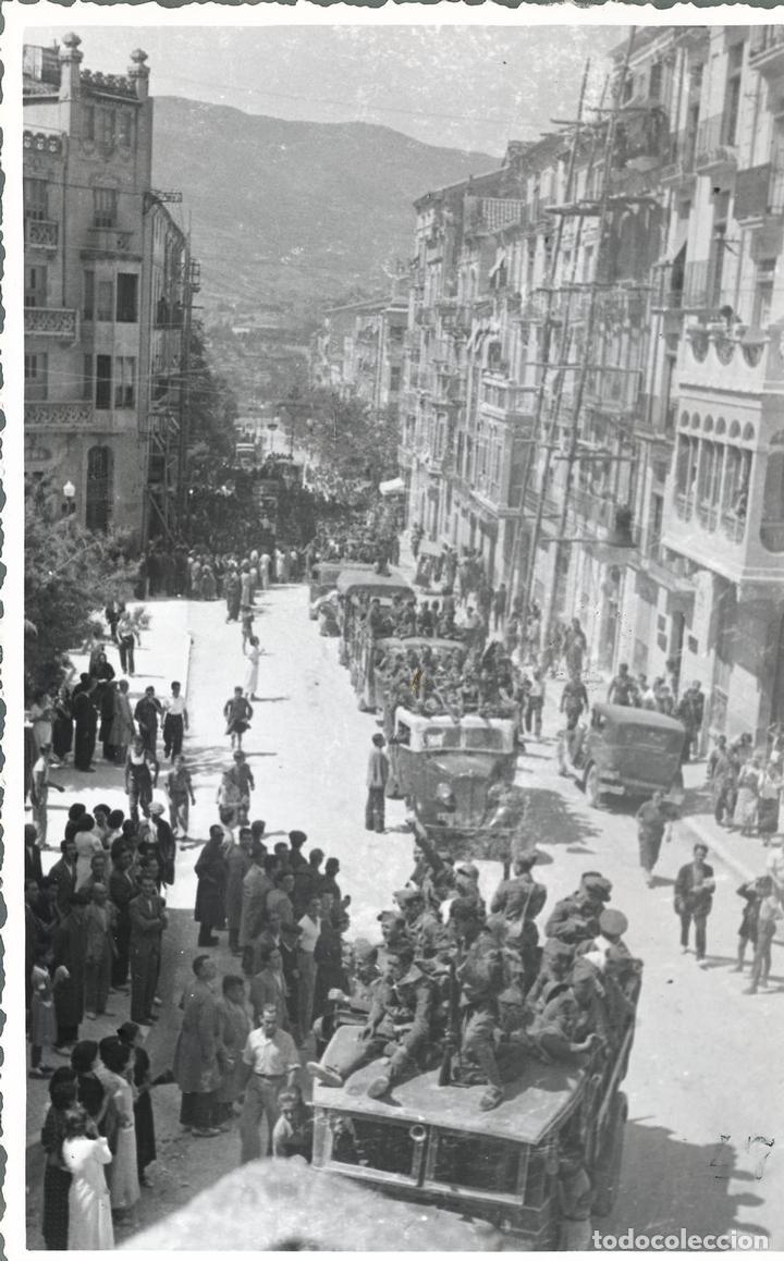 ALCOY SALIDA DE LOS MILICIANOS DE ALCOY A CERRO MURIANO 3 FOTOGRAFIAS (Postales - España - Comunidad Valenciana Antigua (hasta 1939))