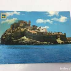 Postales: POSTAL DE PENISCOLA, VISTA GENERAL (CASTELLON - CURSADA 1972 - TIENE UNA MANCHA . Lote 170421900