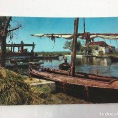 Postales: POSTAL DE EMBARCADERO DE EL SALER (VALENCIA)- CURSADA 1967. Lote 170422056